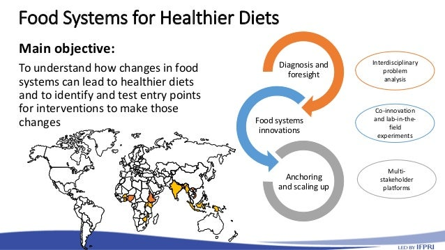 Food Systems for Healthier Diets Main objective: To understand how changes in food systems can lead to healthier diets and...