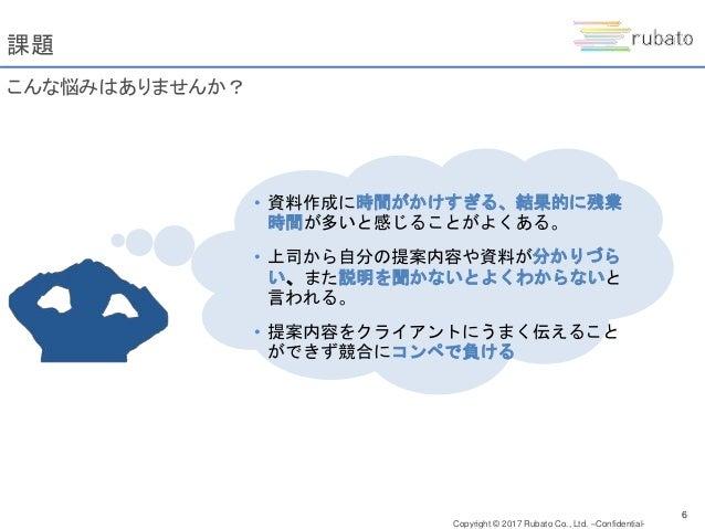 Copyright © 2017 Rubato Co., Ltd. –Confidential- 7 原因 ルーティーンワークが中心だったため、PC・情報収集スキルやビジネス知識・思考な どが不足していることが原因です PC・情報収集スキル ビ...