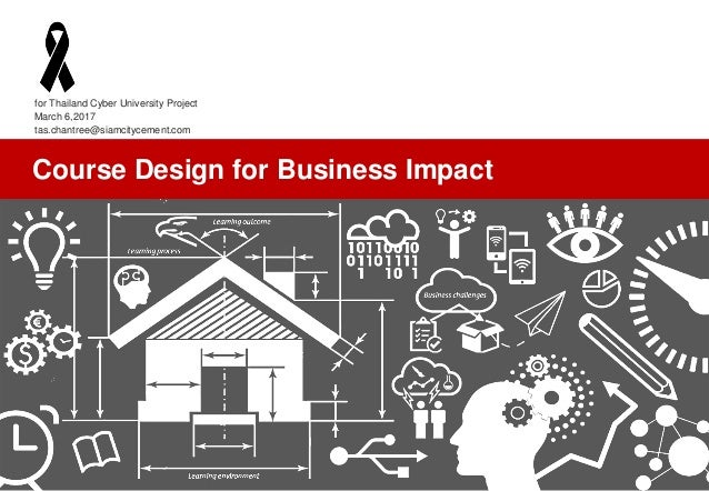 tas.chantree@siamcitycement.com Course Design for Business Impact for Thailand Cyber University Project March 6,2017