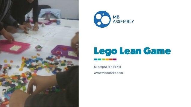Lego Lean Game Mustapha BOUBEKRI www.mboubekri.com