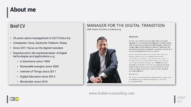 About me Brief CV • 25 years senior management in CE/IT/telco biz • Companies: Sony, Deutsche Telekom, Sharp • Since 20...