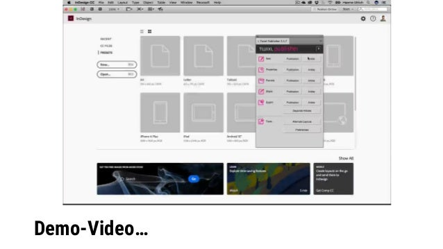 Authoring mit WoodWing Inception (Praxisdemo) Twixl Distribution Platform WoodWing Inception https://inception.woodwing.co...
