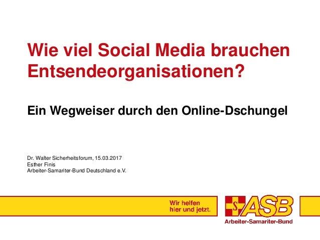 Wie viel Social Media brauchen Entsendeorganisationen? Ein Wegweiser durch den Online-Dschungel Dr. Walter Sicherheitsforu...