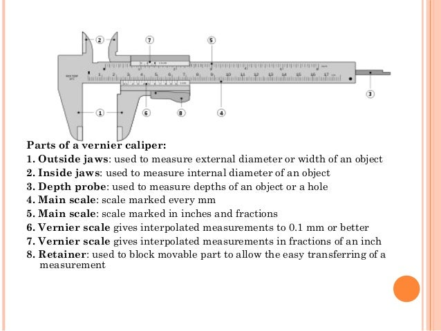 well labeled diagram of vernier caliper on wiring diagram