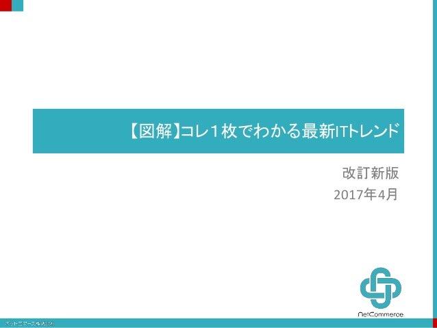 【図解】コレ1枚でわかる最新ITトレンド 改訂新版 2017年4月