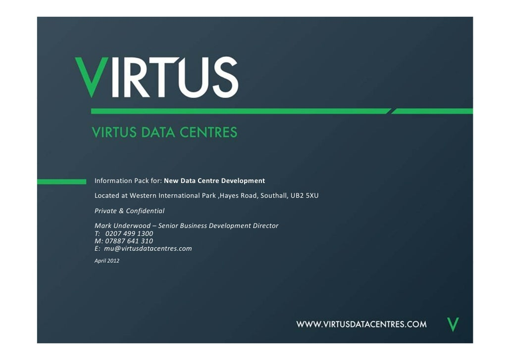 New data centre Info Pack Version 1