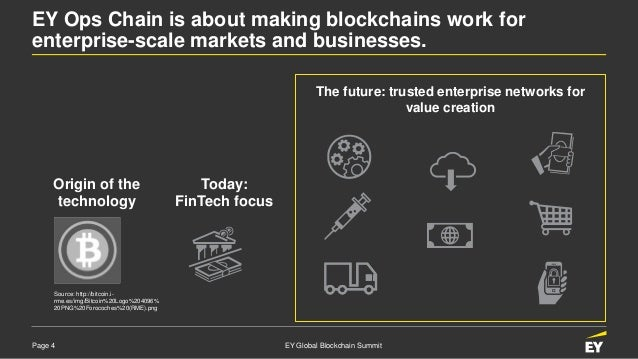 Page 4 EY Global Blockchain Summit EY Ops Chain is about making blockchains work for enterprise-scale markets and business...