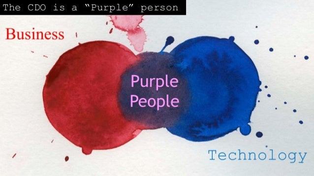"""The CDO is a """"Purple"""" person"""