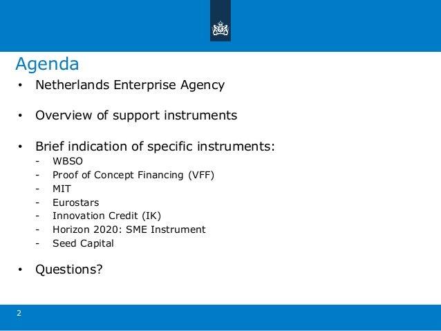 170518 early stage funding for innovative startups (rvo, elke van de graaf) Slide 2