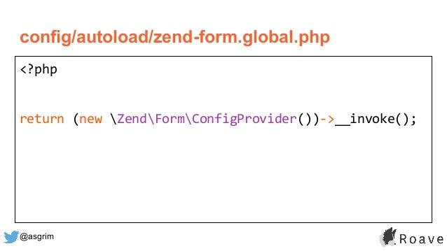@asgrim config/autoload/zend-form.global.php <?php return (new ZendFormConfigProvider())->__invoke();