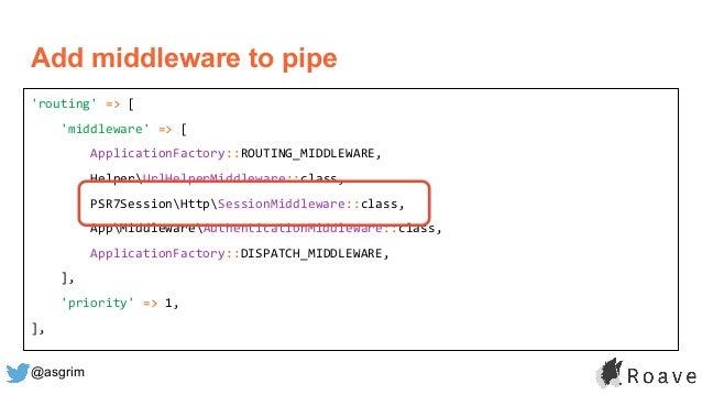 @asgrim 'routing' => [ 'middleware' => [ ApplicationFactory::ROUTING_MIDDLEWARE, HelperUrlHelperMiddleware::class, PSR7Ses...
