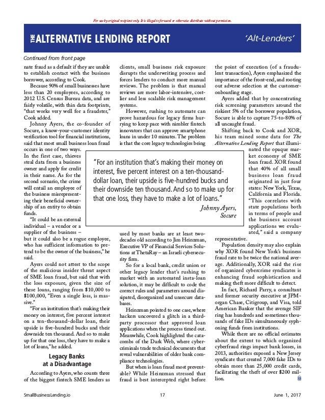 June 2017 the alternative lending report 17 colourmoves
