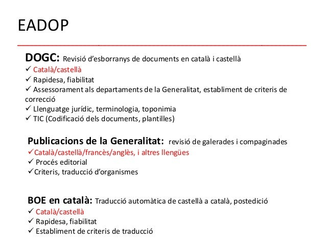 Traduccio Castella Catala Gencat Ausreise Info