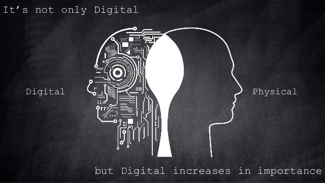 It's not only Digital Digital Physical but Digital increases in importance