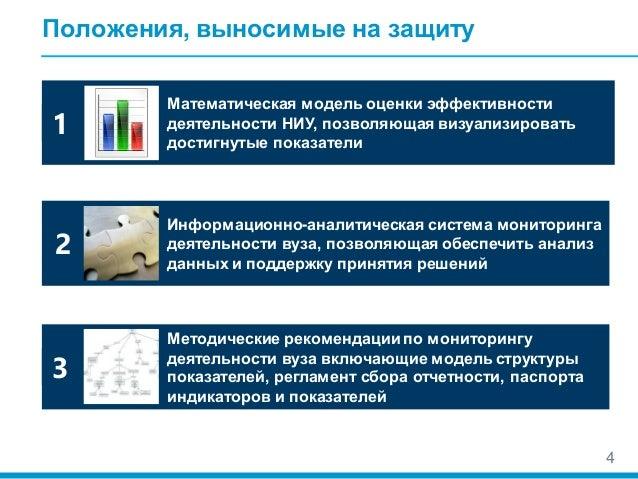 Модель системы оценки эффективности реализации программ развития наци   4 4 Положения выносимые на защиту