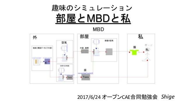 部屋とMBDと私 2017/6/24 オープンCAE合同勉強会 Shige 趣味のシミュレーション