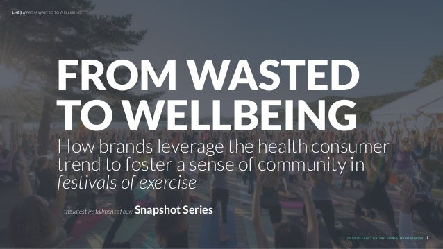 UNDERSTAND TODAY. SHAPE TOMORROW. How brands leverage the health consumer trend to foster a sense of community in festival...