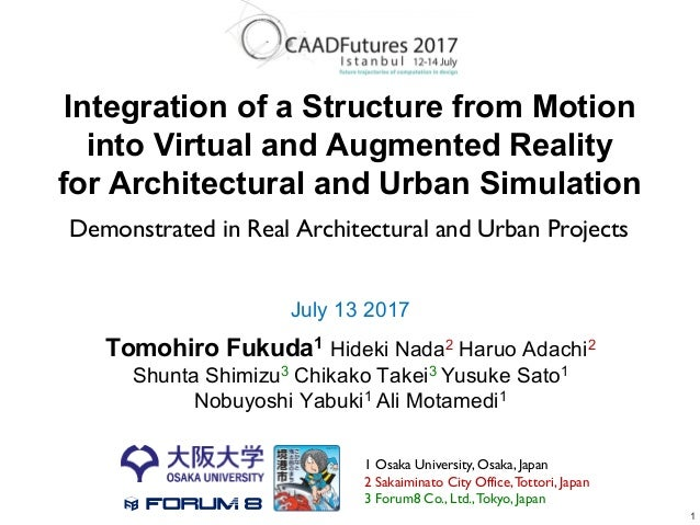 Integration of a Structure from Motion into Virtual and Augmented Reality for Architectural and Urban Simulation July 13 2...