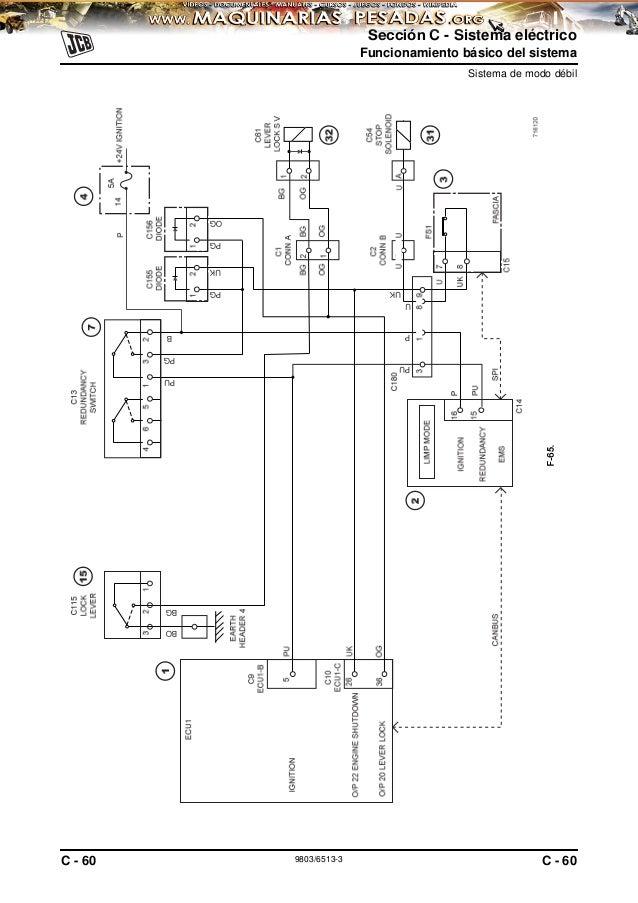 170779724 manual-sistema-electrico-excavadora-js200-260-jcb