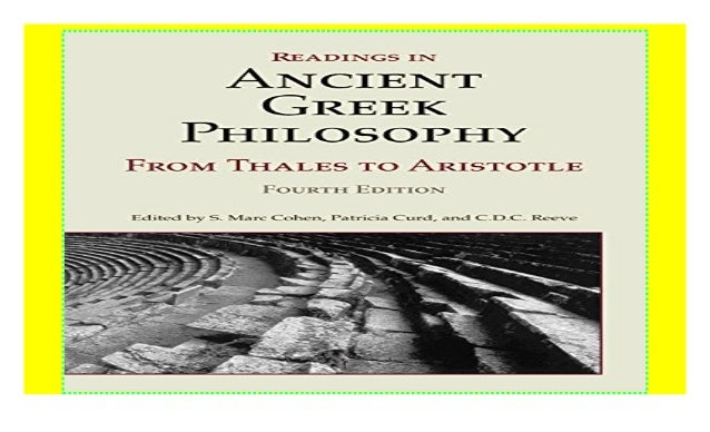 Readings In Ancient Greek Philosophy Pdf