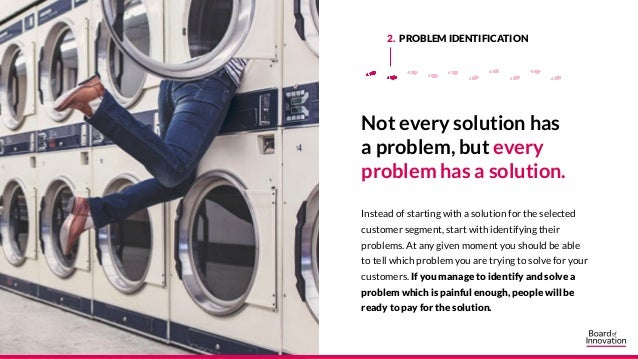 Not every solution has a problem, but every problem has a solution. Instead of starting with a solution for the selected c...