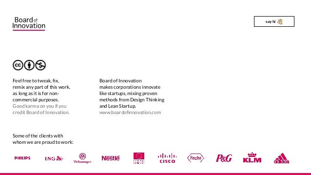 Board of Innovation makes corporations innovate like startups, mixing proven methods from Design Thinking and Lean Startup...