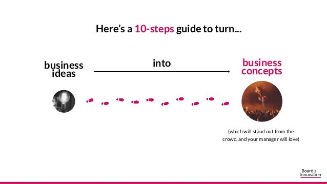 Here's a 10-steps guide to turn... business ideas business concepts into (which will stand out from the crowd, and your ma...