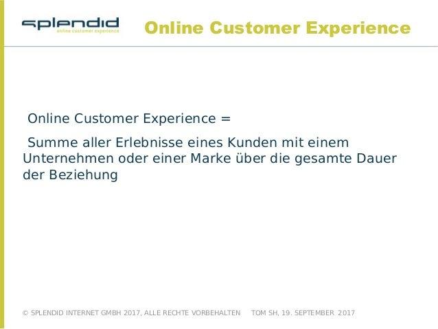 """Eine Präsentation von Splendid Internet zum Thema """"Online Customer Experience im E-Commerce"""" Slide 2"""