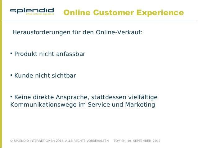 """Eine Präsentation von Splendid Internet zum Thema """"Online Customer Experience im E-Commerce"""" Slide 3"""