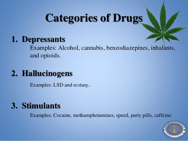 Examples stimulants and depressants