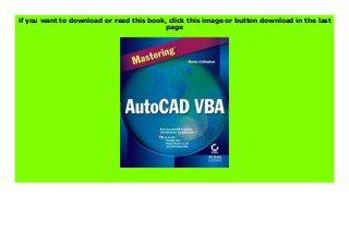 Mastering AutoCAD VBA