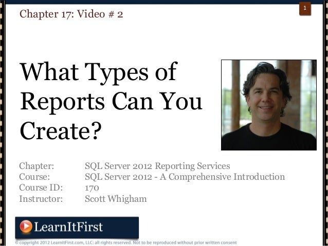 p. 111Chapter: SQL Server 2012 Reporting ServicesCourse: SQL Server 2012 - A Comprehensive IntroductionCourse ID: 170Instr...