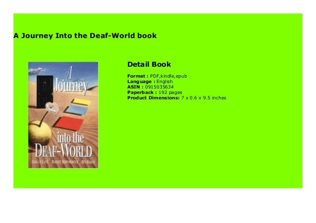 A Journey Into The Deaf World Book 851