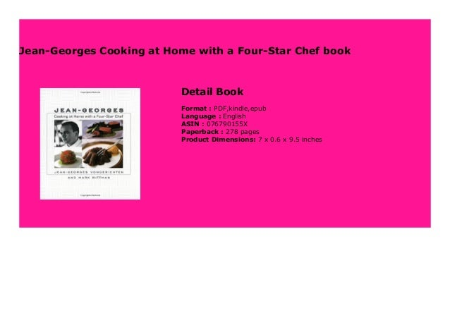 """Jean-Georges Cooking at Home with a Four-Star Chef book Step-By Step To Download """" Jean-Georges Cooking at Home with a Fou..."""