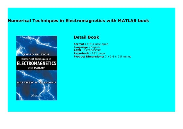Numerical Techniques In Electromagnetics With Matlab Book 254