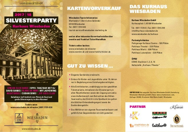 Tickets unter: www.wiesbaden.de/silvester | 0611 1729-930 URBAN CLUB BAND | RPR1. TANZBAR MIT DJ DAVID BANKS | BLANC DE NO...