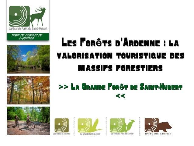 Terre de cerfs et de l gendesé Les For ts d'Ardenne : laêLes For ts d'Ardenne : laê valorisation touristique desvalorisati...