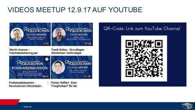 VIDEOS MEETUP 12.9.17 AUF YOUTUBE Seite 20 QR-Code: Link zum YouTube Channel