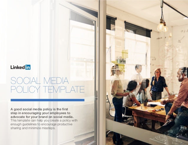 Linkedin elevate social media policy template for Employee social media policy template