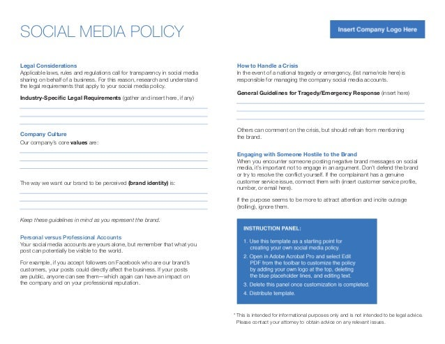 social media brand guidelines template