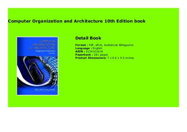Computer Organization And Architecture 10th Edition Book 954