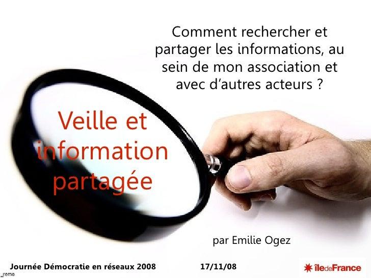 Comment rechercher et                                  partager les informations, au                                   sei...