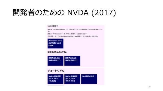 開発者のための NVDA (2017) 30