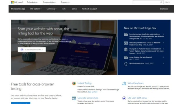 Microsoft Edge Dev 45