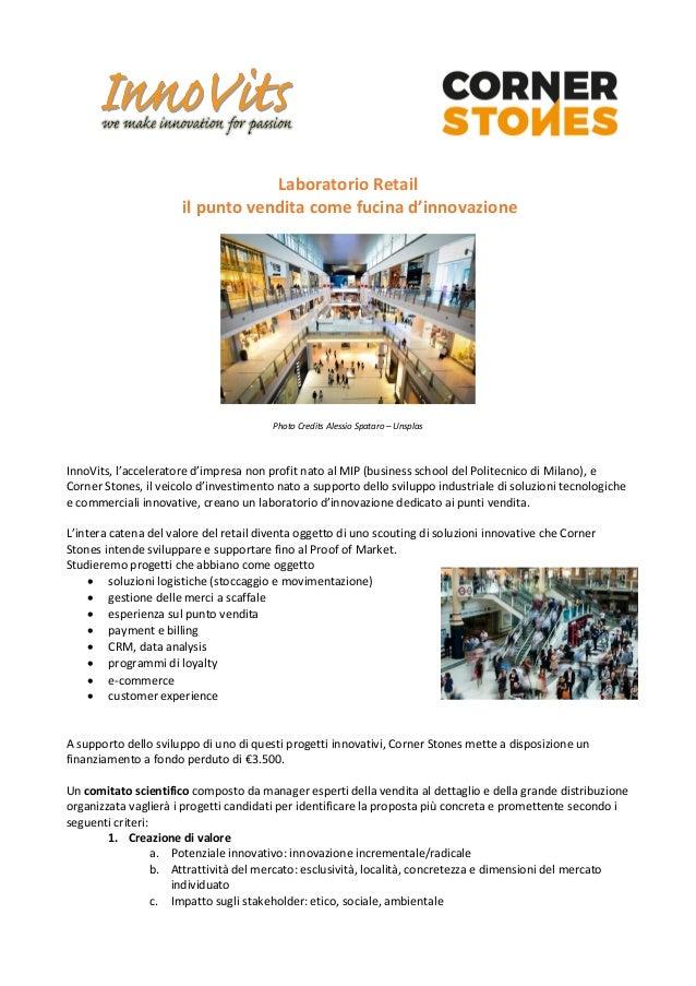 Laboratorio Retail il punto vendita come fucina d'innovazione Photo Credits Alessio Spataro – Unsplas InnoVits, l'accelera...
