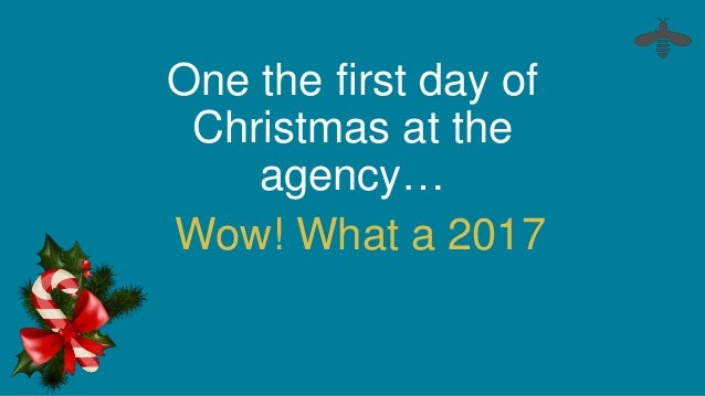 one the first day of christmas at the agency wow