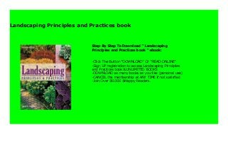 Landscaping Principles And Practices Book 983