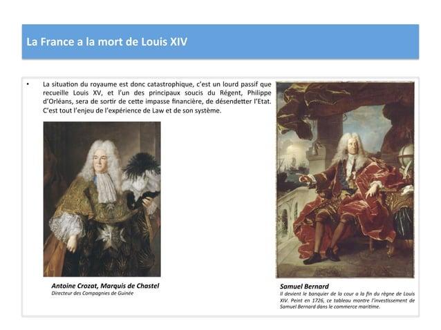 La France a la mort de Louis XIV • La situaWon du royaume est donc catastrophique, c'est ...
