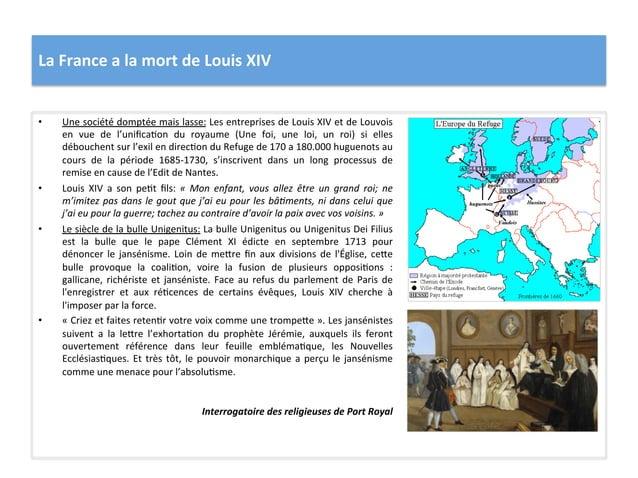 La France a la mort de Louis XIV • Une société domptée mais lasse: Les entreprises de Lou...