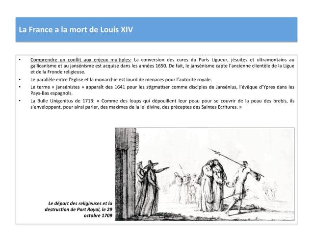 La France a la mort de Louis XIV • Comprendre  un  conflit  aux  enjeux  mulWples:  La  conv...